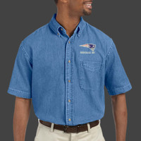 Patriot - M550S Harriton Men's 6.5 oz. Short-Sleeve Denim Shirt