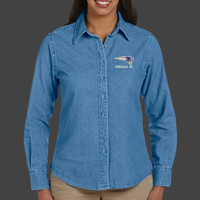 Patriot - M550W Harriton Ladies' 6.5 oz. Long-Sleeve Denim Shirt