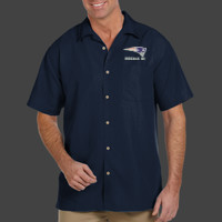 Patriot - M560 Harriton Men's Barbados Textured Camp Shirt